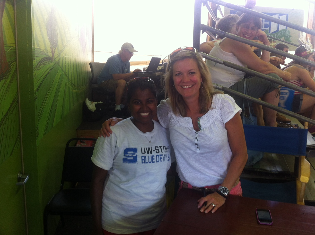 Me with anchor julie nelson she was so nice to everyone who got a